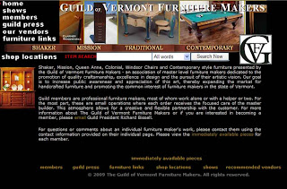 Ok All You Woodworker Readers ... Here Comes Something New. The Guild Of  Vermont Furniture Makers Is In The Process Of Launching A Blog.