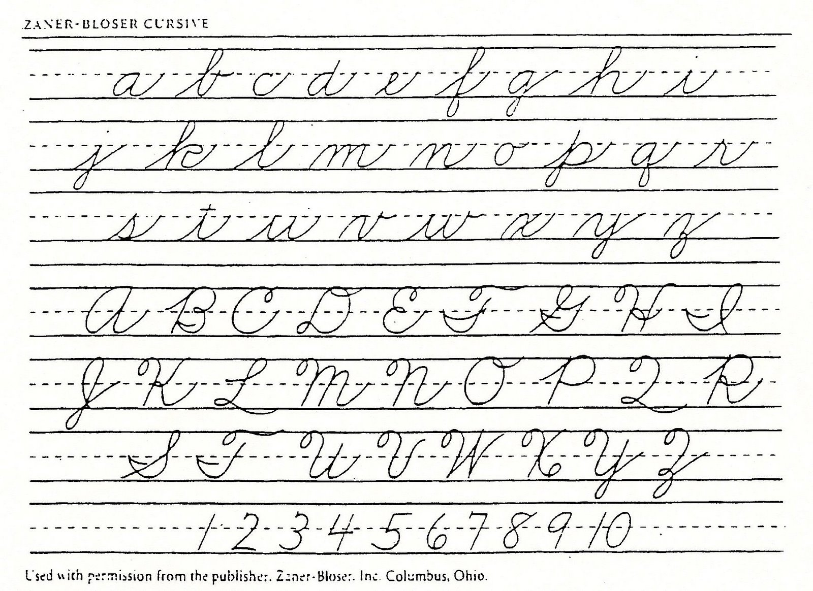 Handwriting Transyada – Zaner Bloser Cursive Worksheets