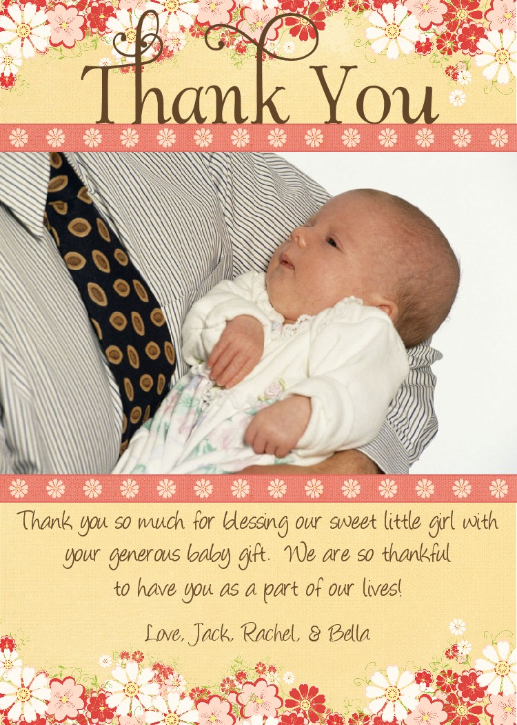 baby gift thank you wording coworkers  abdw, Baby shower