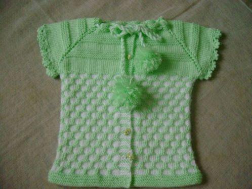 örgülü bebek yelek modeli