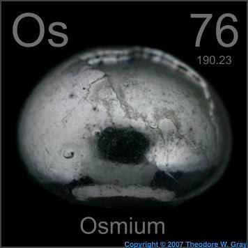 osmium ธาตุ ที่ หนักที่สุดในโลก
