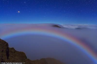 ปรากฏการณ์ธรรมชาติ คันศร แห่ง รัตติกาล Moonbow