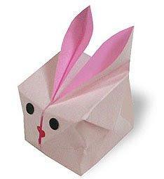 พับกระดาษเป็นกระต่าย