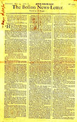 หนังสือพิมพ์ ฉบับแรกของทวีปอเมริกา