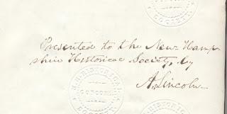 รายเซ็นล์ของ อัลบราฮัม ลินคอล์น