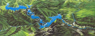 แผนผังทะเลสาบ litvice Lakes