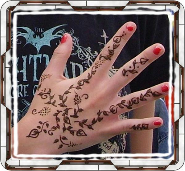 Best pics henna art tattoo design for hand girl