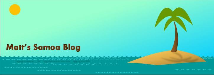 Matt's Samoa Blog