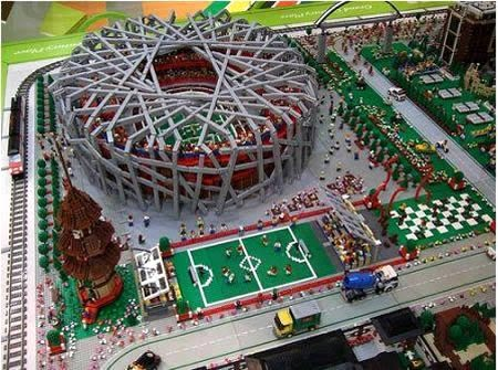 The Bird Nest Stadium in LEGO