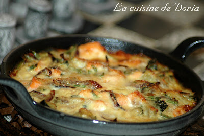 la cuisine de doria gratin de saumon aux courgettes et oignon rouge vin blanc doria auxerre. Black Bedroom Furniture Sets. Home Design Ideas