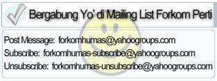Mailing List Forkom Humas