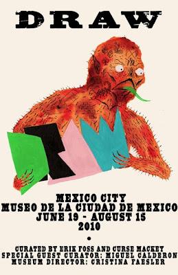 Draw, exposicion de dibujos 500 artistas, en el museo de la ciudad de mexico