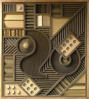 el arte de mark langan con papel corrugado