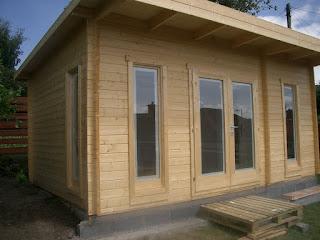 Cabin living garden office scotland for Garden offices for sale scotland