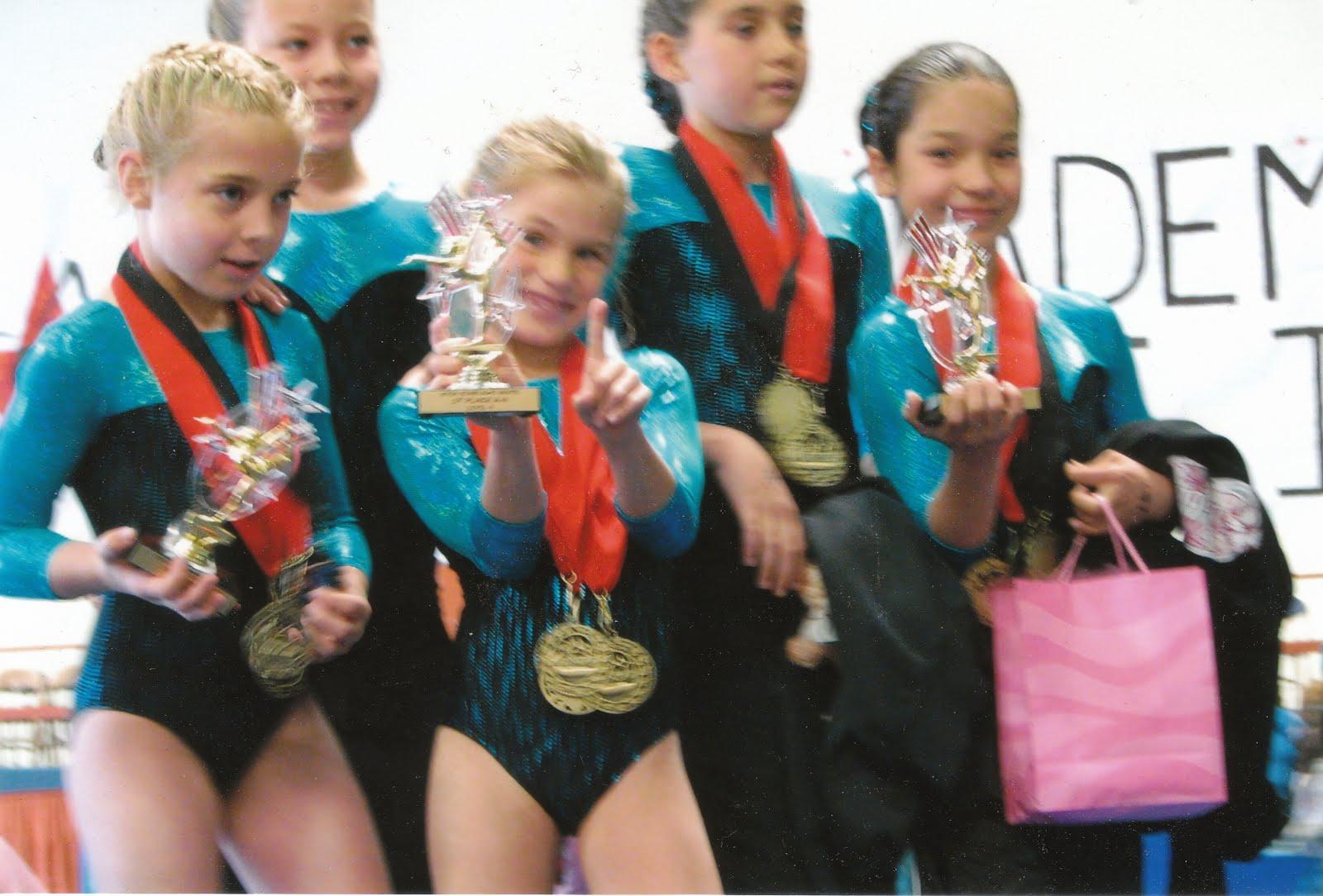 Little Girls Gymnastic Trainning