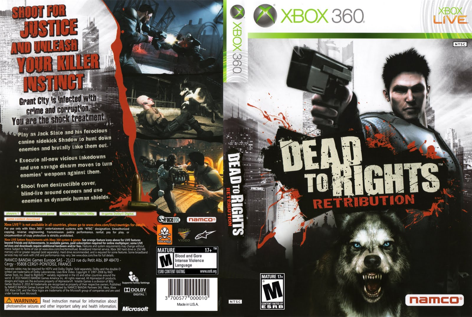 Xbox 360 Covers Dead To Rights Retribution