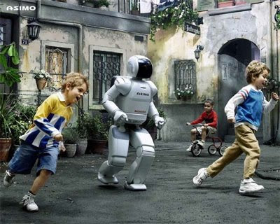 No ASIMO! Not the children!
