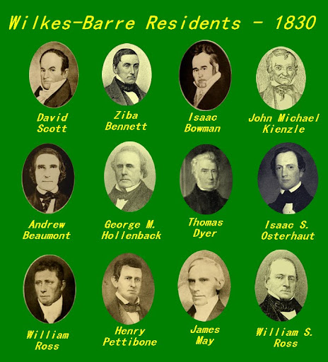 Wilkes-Barre Residents - 1830