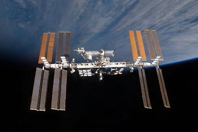 The International Space Station - Click here for a larger image