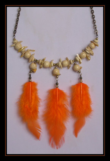 Orange Seashells Necklace