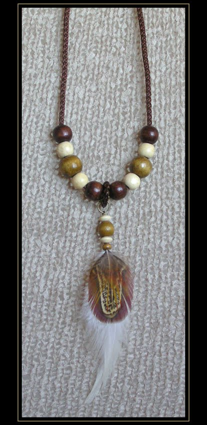 Brown Rooster Necklace