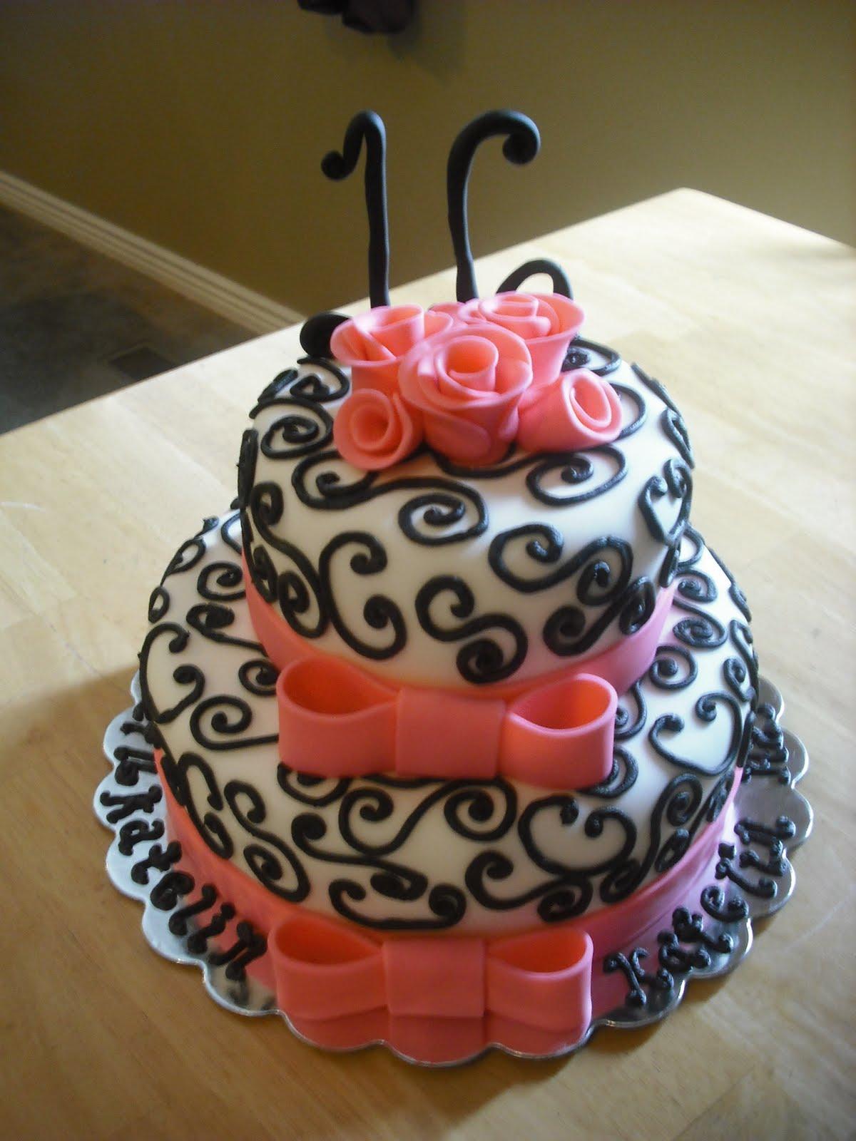 Birthday Cake Ideas With Sweets : Sprinklebelle Cakes: Sweet 16 Cake