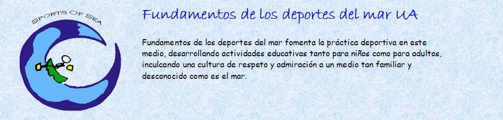 FuNdAmEnTos De Los DePorTes Del MaR UA