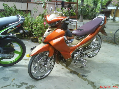 Honda Supra 125 X injection modification full air Brush