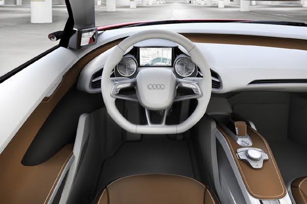 2009 Audi e-tron concept dashboard