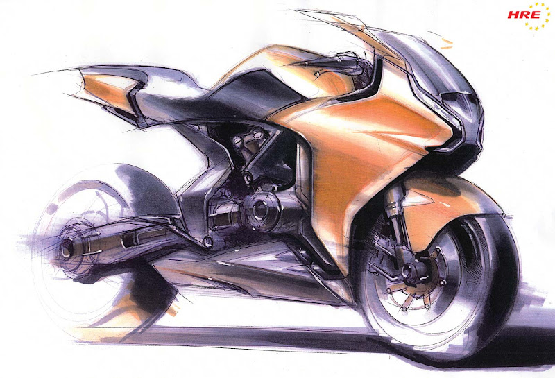 NEW HONDA VFR1200F CONCEPT SKETCHES