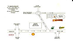 Peta Ke TY Restaurant
