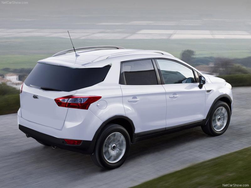 Projeções da Nova Ecosport 2012 sem o step na parte traseira.