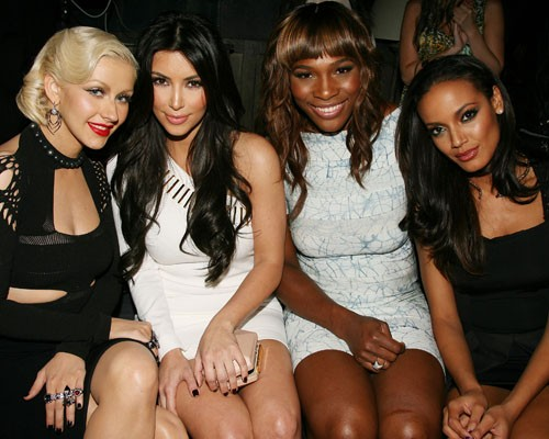 Christina Aguilera and @KimKardashian at the