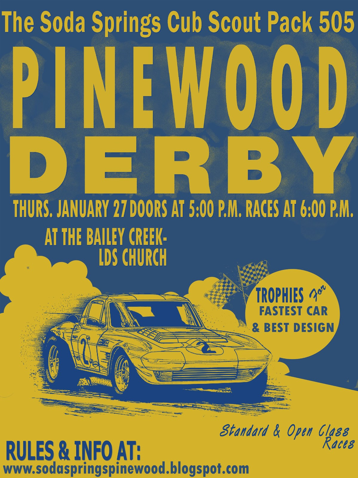 Soda Springs Pinewood Derby P W Derby Flyer