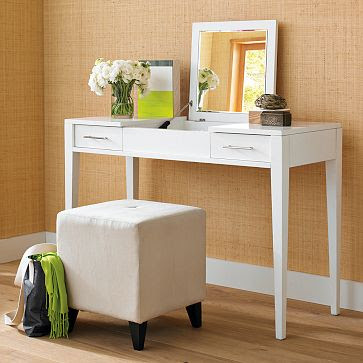 Den design studio a personal design dilemma for Skinny vanity table