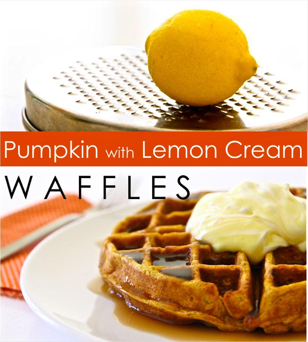 Pumpkin Waffles + Lemon Cream – MADE EVERYDAY