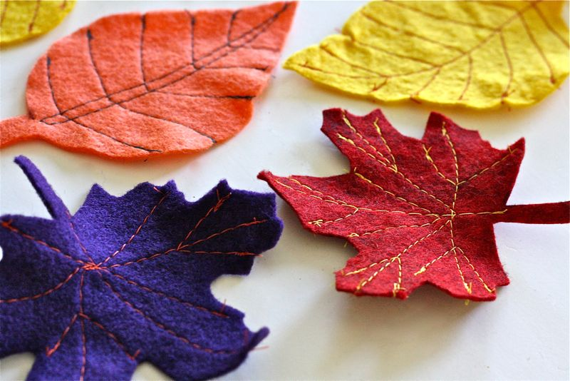 Fall felt leaves made everyday for Leaf crafts for adults