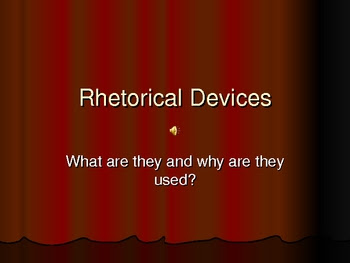 Room 211 - English 2: Rhetorical Devices - Mid-Term Exam (