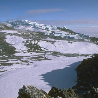 Kilimanjaro's northern glaciers [Credit: Peter Haynes]