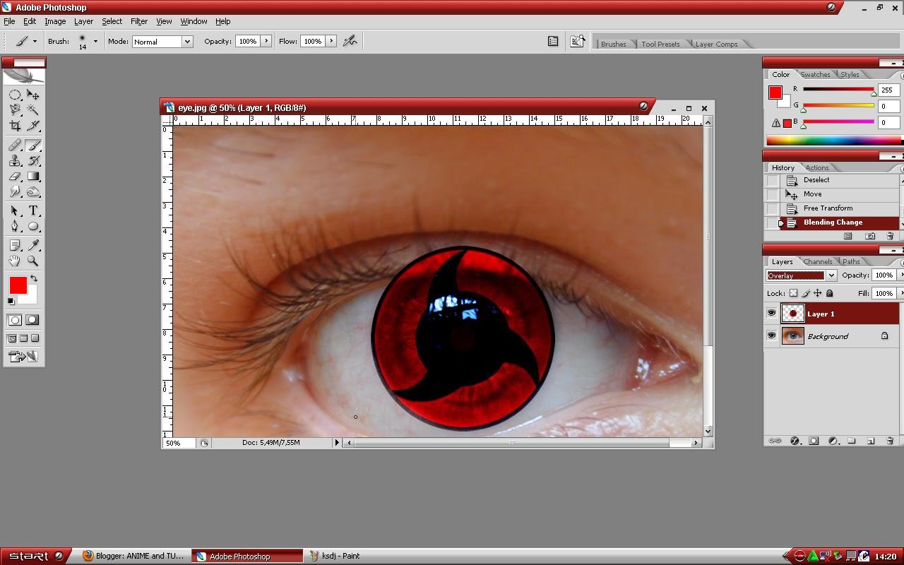 Как в фотошопе сделать тени для глаз