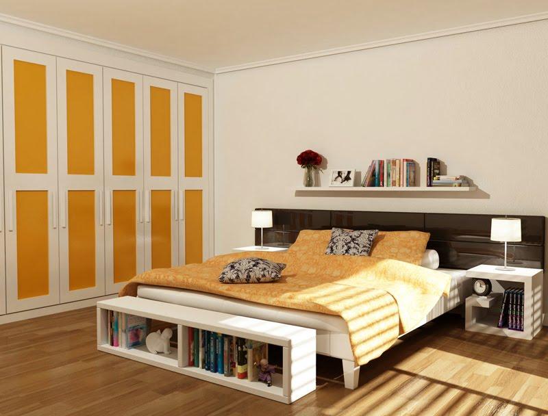 Dormitorio naranja for Dormitorio naranja