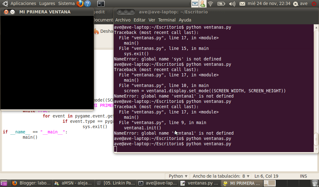 Laboratorio de lenguajes de programacion ventanas en python - Librerias python ...