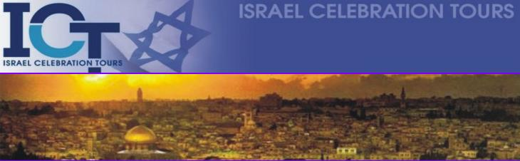 Israel Celebration Tours
