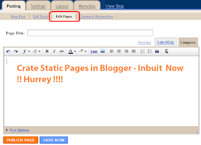 Blogger Static Page