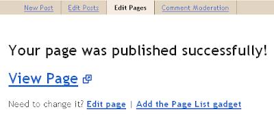 Publish Static Page