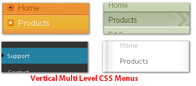 Vertical CSS Menu for Blogger