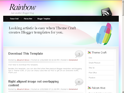 Rainbow blogger template