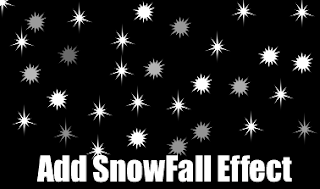 Add JavaScript Snowfall Effect in Blogger