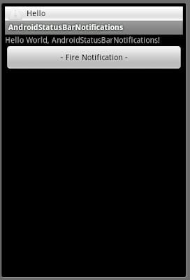 狀態欄通知(status bar notification)在系統的狀態欄之上添加一個帶有文本信息的圖標