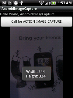 Android內建相機應用程序返回的縮圖